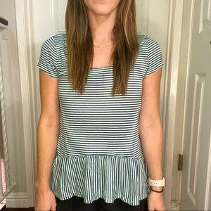 Splendid * Striped Peplum T-shirt XS ☺️